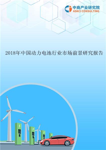 2018年中国动力电池行业市场前景研究报告