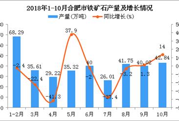 2018年1-10月合肥市铁矿石产量为359.06万吨 同比下降8.8%