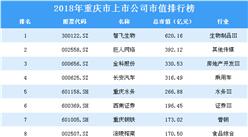 2018年重慶市上市公司市值排行榜
