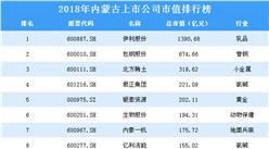 2018年内蒙古上市公司市值排行榜