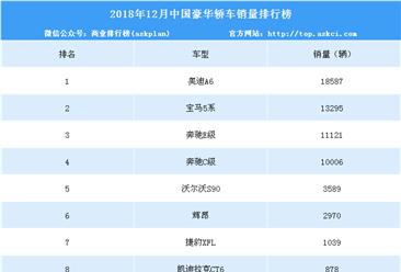 2018年12月中国豪华轿车销量排行榜(附年度排名)