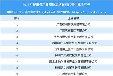 产业用地情报:2018年柳州市产业用地拿地面积50强企业排行榜