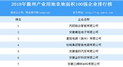 产业用地情报:2018年安徽省滁州市产业用地拿地面积100强企业排行榜