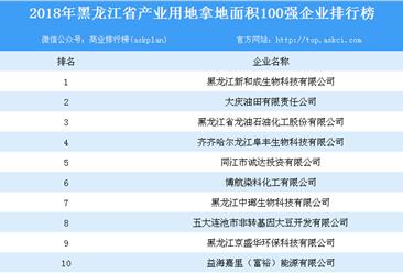 产业用地情报:2018年黑龙江省产业用地拿地面积100强企业排行榜
