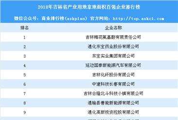 产业用地情报:2018年吉林省产业用地拿地面积百强企业排行榜