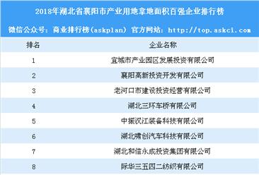产业用地情报:2018年湖北省襄阳市产业用地拿地面积百强企业排行榜
