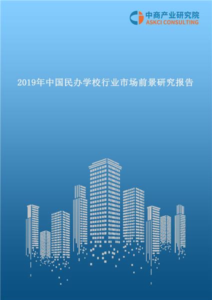 2019年中国民办学校行业市场前景研究报告