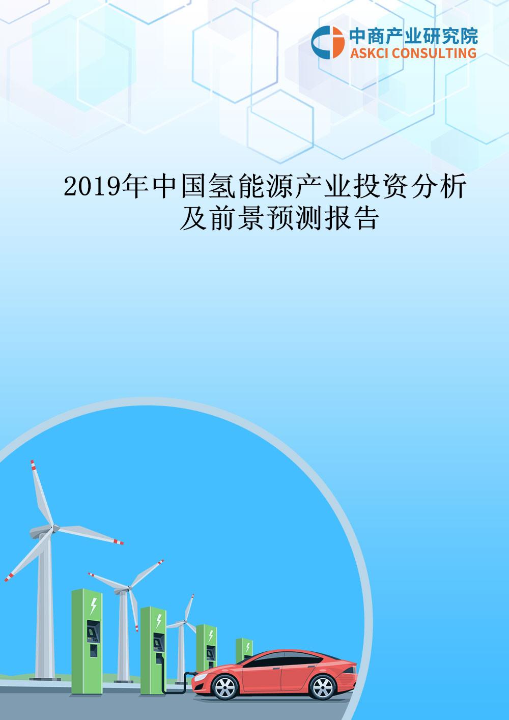 2019年中国氢能源产业投资分析及前景预测报告