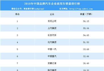2018年中国品牌汽车企业商用车销量排行榜