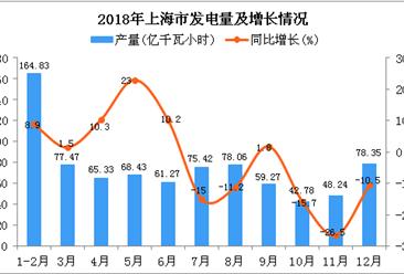 2018年上海市发电量为819.45亿千瓦小时 同比下降1.7%