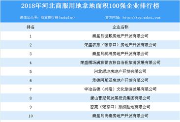 商业地产招商情报:2018年河北省商服用地拿地面积百强企业排行榜