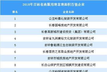 商业地产招商情报:2018年吉林省商服用地拿地面积百强企业排行榜