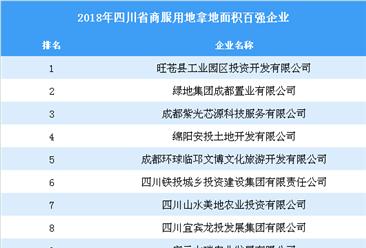 商业地产招商情报:2018年四川省商服用地拿地面积百强企业排行榜