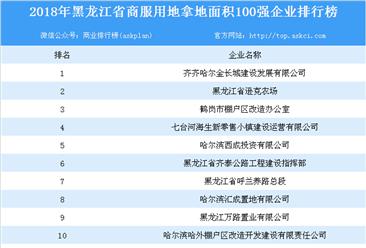 商业地产招商情报:2018年黑龙江省商服用地拿地面积百强企业排行榜