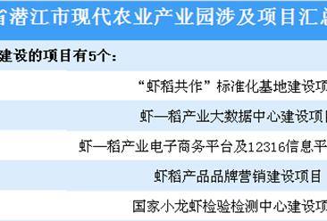 湖北潜江市现代农业产业园项目汇总一览(表)