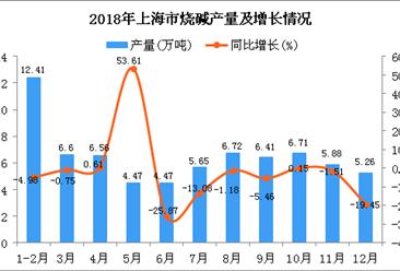 2018年上海市烧碱产量及增长情况分析