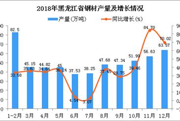 2018年黑龙江省钢材产量为560.46万吨 同比增长36.31%