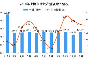 2018年上海市生铁产量为1476.76万吨 同比增长2.01%
