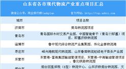山東省現代物流業產業布局分析及重點產業集群/園區和項目匯總一覽(表)