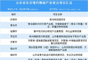 山东省现代物流业产业布局分析及重点产业集群/园区和项目汇总一览(表)