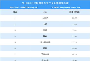 2019年1月中国摩托车企业销量排行榜(top10)