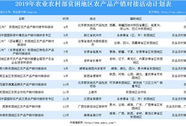 2019年贫困地区农产品产销对接活动计划汇总一览(表)