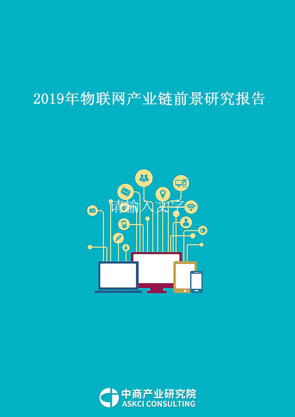 2019年物联网产业链前景研究报告
