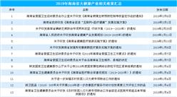 2019年海南省大健康产业相关政策一览(附图表)