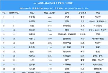 2019胡润全球白手起家女富豪榜(中国篇):4名女首富新上榜(附榜单)