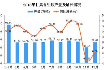 2018年甘肃省生铁产量为614.01万吨 同比增长34.35%