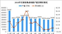 2018年甘肃省集成电路产量及增长情况分析