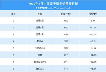 2019年2月中国豪华轿车销量排行榜