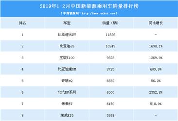 2019年1-2月中国新能源汽车销量排行榜(TOP10)