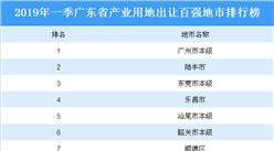 大灣區產業地產投資情報:2019年一季度廣東省產業用地出讓百強地市排行榜