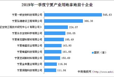 产业地产投资情报:2019年一季度宁夏产业用地拿地50强企业排行榜