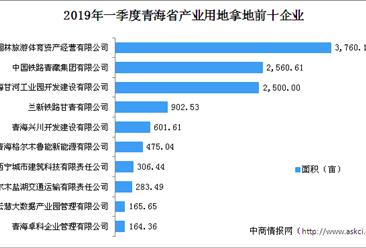 产业地产投资情报:2019年一季度青海省产业用地拿地百强企业排行榜