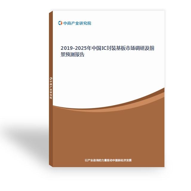 2019-2025年中国IC封装基板市场调研及前景预测报告