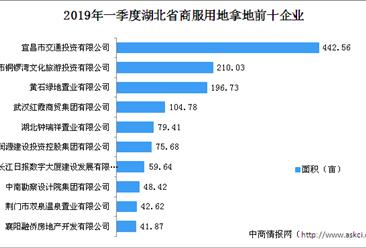 商业地产招商情报:2019年一季度湖北省商服用地拿地企业30强排行榜