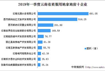 商业地产招商情报:2019年一季度云南省商服用地拿地企业20强排行榜