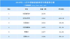 2019年1-3月中国新能源汽车销量排行榜