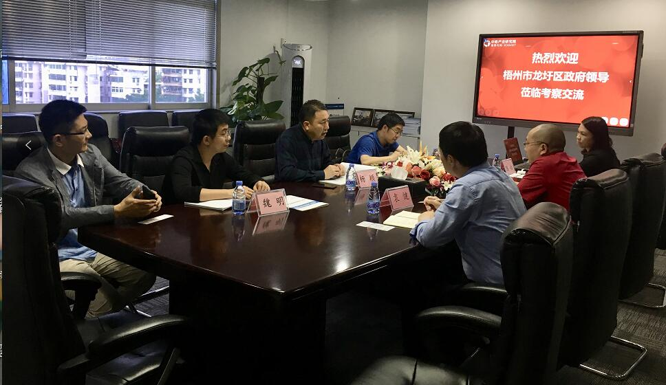 广西梧州市龙圩区领导莅临中商产业研究院考察洽谈