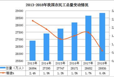 2018年全国农民工大数据统计?#21495;?#27665;工总量达2.88亿人 月收入增长6.8%