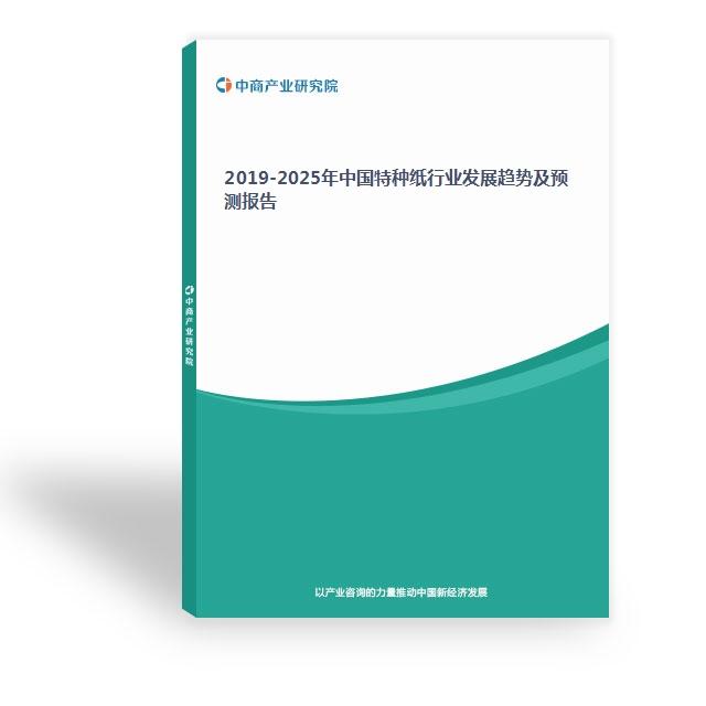 2019-2025年中国特种纸行业发展趋势?#38712;?#27979;报告