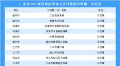 广东省2018年度休闲农业和乡村旅游示范名单出炉(附完整名单)