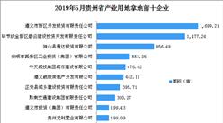 产业地产投资情报:2019年5月贵州省产业用地拿地企业100强排行榜