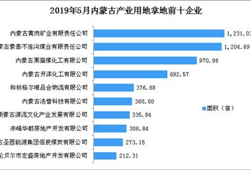 产业地产投资情报:2019年5月内蒙古产业用地拿地企业100强排行榜