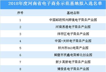 2018年度河南省电子商务示范基地拟入选名单:商桥电商产业园等上榜