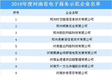 2018年度河南省电子商务示范企业名单出炉(附完整名单)