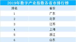 2019年全國31省市數字產業指數排行榜:廣東高分領跑(附榜單)