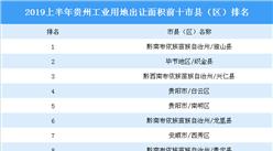 2019上半年貴州省城市產業投資熱度(TOP10)排名:獨山縣位居榜首(土地篇)